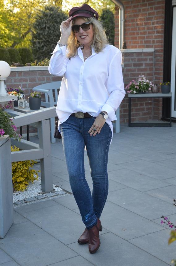 wo zu kaufen Herbst Schuhe Ausverkauf weiße enge bluse