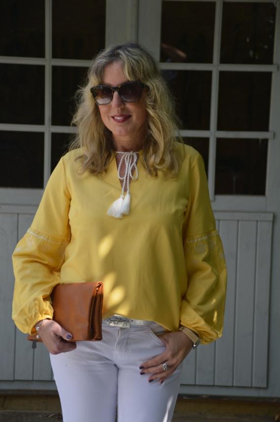 Gelb mit Weiß