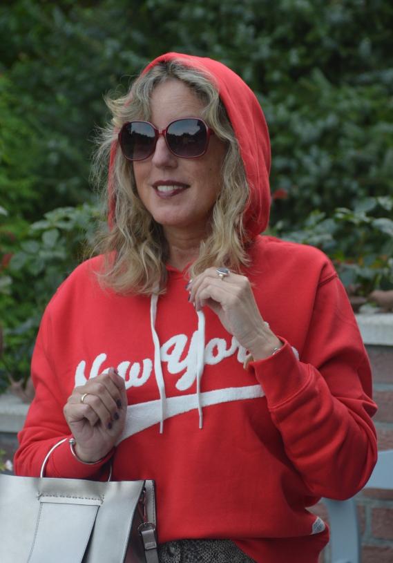 roter hoodie H&M