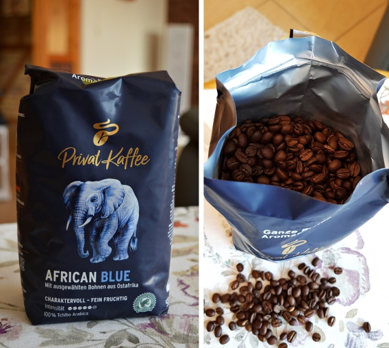 Tchibo Privat Kaffee African Blue ist Genuss pur.