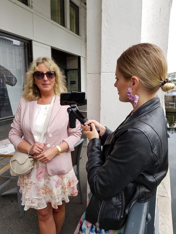 Videodreh mit Interview in Hamburg bei der PR-Agentur Yamaoka Brodmeier