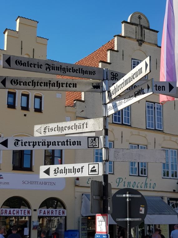 Tagesausflug und besuchten die Hollanderstadt Friedrichstadt
