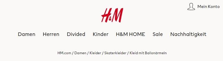H&M Onlineshop