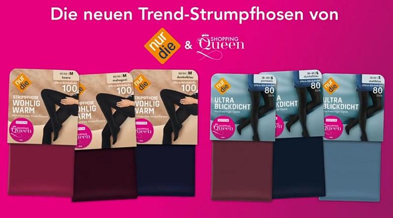 Heute möchte ich Euch eine blickdichte Strumpfhose in der Farbe Mahagoni aus der limitierten NUR DIE Shopping Queen Strumpfhosen Edition vorstellen
