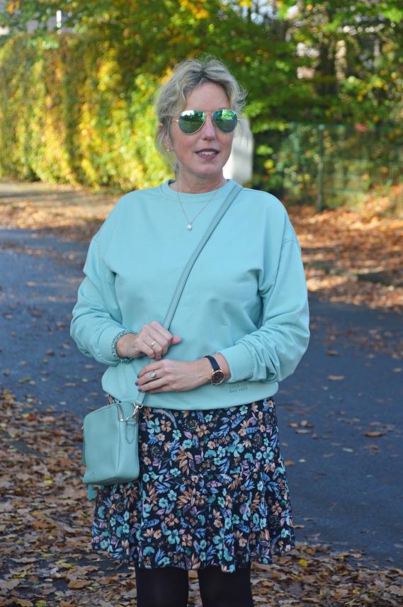 Das Sweatshirt in Mint lief mir vor ein paar Wochen bei Takko über den Weg