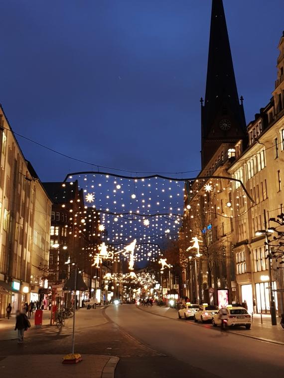 Mönckebergstrasse Hamburg Weihnachtsbeleuchtung