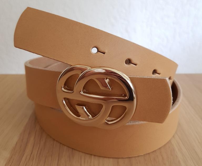 Gürtel von Luca Kayz mit goldener Schnalle