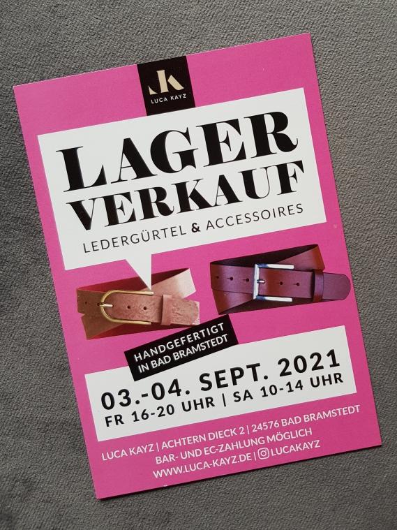 Luca Kayz Lagerverkauf findet dieses Wochenende statt