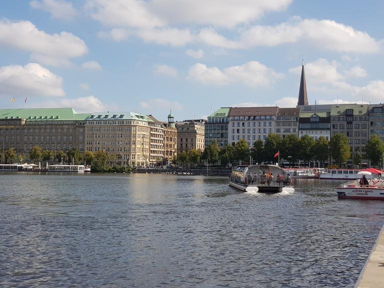 Wie ein Tourist in der Hansestadt Hamburg